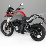 BMW G 310 GS rear three quarters studio image