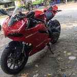 Benelli TNT 300 Ducati lookalike front three quarter with rear seat