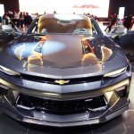 Chevrolet Camaro 50th Anniversary Edition front at 2016 Bogota Auto Show