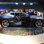 Chevrolet Camaro 50th Anniversary Edition right side at 2016 Bogota Auto Show