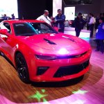 Chevrolet Camaro SS front three quarters at 2016 Bogota Auto Show