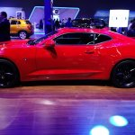 Chevrolet Camaro SS left side at 2016 Bogota Auto Show
