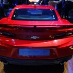 Chevrolet Camaro SS rear at 2016 Bogota Auto Show