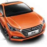 Chinese-spec 2017 Hyundai Verna front three quarters elevated view