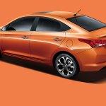 Chinese-spec 2017 Hyundai Verna rear three quarters