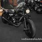 Honda Rebel 500 2016 Thai Motor Expo black customised front three quarter with headlamp