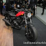 Honda Rebel 500 red front three quarter at Thai Motor Expo
