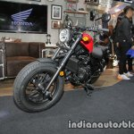 Honda Rebel 500 red front three quarter left at Thai Motor Expo