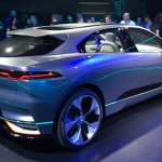 Jaguar i-Pace concept rear three quarter live image