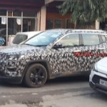 Jeep Compass front three quarter spied in Himachal Pradesh