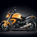 Mahindra Mojo Sunburst Yellow profile