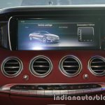 Mercedes S Class Cabriolet display launched