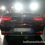 Mercedes S Class Cabriolet rear launched