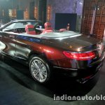 Mercedes S Class Cabriolet rear three quarter launched
