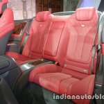 Mercedes S Class Cabriolet rear seat launched