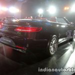 Mercedes S Class Cabriolet rear quarter launched