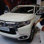 Mitsubishi Montero Sport front three quarters at 2016 Bogota Auto Show