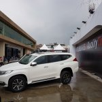 Mitsubishi Montero Sport left side at 2016 Bogota Auto Show