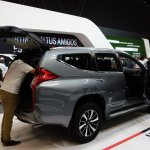 Mitsubishi Montero Sport rear three quarters at 2016 Bogota Auto Show