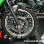 New Kawasaki Versys X300 front wheel at Thai Motor Expo