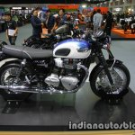 New Triumph T100 side at Thai Motor Expo