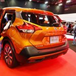 Nissan Kicks rear three quarters at 2016 Bogota Auto Show