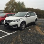 Peugeot 5008 front three quarter spotted post debut