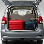 Proton Ertiga boot luggage loaded