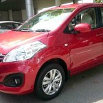 Proton Ertiga red front photographed