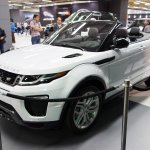 Range Rover Evoque Convertible front three quarters left side at 2016 Bogota Auto Show