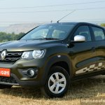 Renault Kwid 1.0L Easy-R AMT front three quarter Review