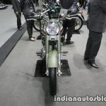 Royal Enfield Classic Battle Green P-40 Tiger Shark front at Thai Motor Expo