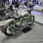 Royal Enfield Classic Battle Green P-40 Tiger Shark rear three quarter at Thai Motor Expo