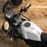 Royal Enfield Himalayan handle bar at EICMA 2016