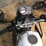 Royal Enfield Himalayan instrument cluster at EICMA 2016