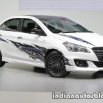 Suzuki Ciaz RS with body graphics front quarter 2016 Thai  Motor Expo