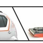 Suzuki Ignis iUNIQUE orange stripe
