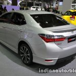 Toyota Corolla ESport rear three quarters left side at 2016 Thai Motor Expo