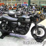 Triumph T100 Black side at Thai Motor Expo