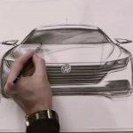 VW Arteon front sketch