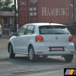 VW Polo 180 TSI rear spied testing in India
