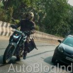Yamaha MT-03 front spied testing