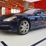 2017 Maserati Quattroporte front three quarters left side at 2016 Bologna Motor Show