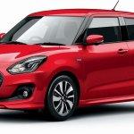 2017 Suzuki Swift red front three quarters
