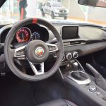 Abarth 124 Spider interior at 2016 Bologna Motor Show