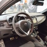 Alfa Romeo Giulietta Veloce interior at 2016 Bologna Motor Show