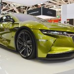 DS e-tense concept front three quarters at 2016 Bologna Motor Show