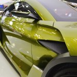 DS e-tense concept right side details at 2016 Bologna Motor Show