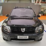 Dacia Duster Black Shadow front elevated view at 2016 Bologna Motor Show