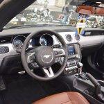 Ford Mustang Convertible interior at 2016 Bologna Motor Show